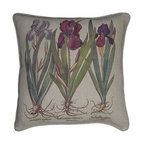 """EuroLux Home - New Printed Linen Throw Pillow 20""""x20"""" - Product Details"""