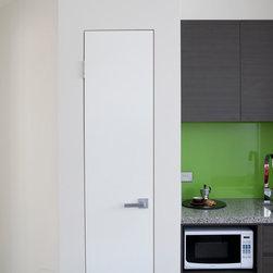 Homes - Ezy-Jamb Flush Finish Door Jamb blending into wall surface creating a minimalist look