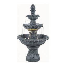 Kenroy - Kenroy 53200ZC Costa Brava Outdoor Fountain - Kenroy 53200ZC Costa Brava Outdoor Fountain