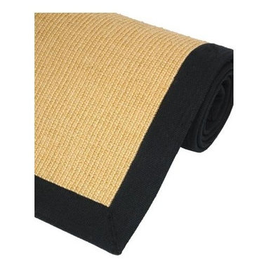 Oriental Unlimited - Eco-Friendly Sisal Rug w Border (72 in. L x 4 - Choose Size: 72 in. L x 48 in. WWoven with all natural sisal fibers, this attractive area rug is perfect for your entryway, living space and anywhere in between. Honey colored center is offset by a black cotton border. Plus, there's no carpet pad required - the rug comes with a non-slip backing. Economically friendly and perfect for high traffic areas. Sisal is a natural fiber derived from a cactus plant usually found in Brasil, Africa and Asia. Made from all natural Sisal fibers, woven in a boucle pattern for strength and durability. Surrounded by a Black cotton border. Features a non-slip latex backing, so it does not require a carpet pad. 36 in. L x 24 in. W. 72 in. L x 48 in. W. 96 in. L x 60 in. WRegular vacuuming is the best way to keep your Sisal rug fresh. Make several passes in different directions, taking care on the bordered parts. If the rug is in a dry or low humidity area frequent, light and even applications of water will help to strengthen the natural fibers and enhance the wearing qualities. Do not saturate. Use a damp cloth or spray bottle. The moisture will tighten up the carpet fibers as they dry. Make sure to vacuum before dampening the rug to remove excess dirt.