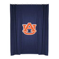 Sports Coverage - NCAA Auburn Tigers College Bathroom Accent Shower Curtain - Features: