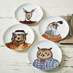 Dapper Animal Plates - The Dapper Animal plate collection is perfect for your winter cabin! It's adorable and perfect for dinner parties.