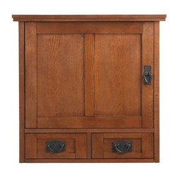 Home Decorators Collection - Artisan Wall Cabinet with Wood Doors - It's the perfect marriage of form and function in a bathroom wall cabinet that's as good-looking as it is practical. This finely crafted bathroom wall cabinet combines the spirit of the Arts and Crafts movement with the decorative versatility and bathroom storage you need. The Artisan Bathroom Wall Cabinet has two drawers and additional wood-door cabinet storage for all your bathroom essentials. Made from wood and wood veneer for years of lasting beauty and use. A sleek finish completes the look.