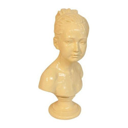 Ivory Bust Of Woman - It's great to have a woman over, but specially a beautiful ivory woman bust sculpture that can light up a space without saying a word. This sculpture is the missing piece that can tie in an eclectic or traditional design in anyone's home.