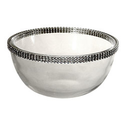 """Alan Lee Collection - Princess Collection 5"""" Glass Bowl - A Perfect complement to the Alan Lee Collection chargers and dinner set. A multipurpose bowl for anything from that perfect sorbet to fruit salad or condiments of any sort."""
