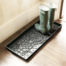 Rubber Boot Tray - This rubber boot tray is a stylish and practical solution to dirty shoes in the entryway.