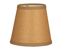 """""""Royal Designs, Inc"""" - 6"""" Parchment Empire Brown Chandelier Lampshade - """"This 6"""" Parchment Empire Brown Chandelier Lampshade - 4 x 6 x 5.5 is a part of Royal Designs, Inc. Timeless Chandelier Shade Collection and is perfect for anyone who is looking for a simple yet stunning lampshade. Royal Designs has been in the lampshade business since 1993 with their multiple shade lines that exemplify handcrafted quality and value."""