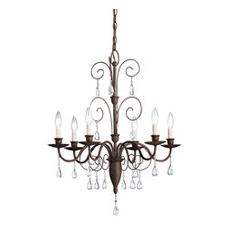 Kichler - Kichler Barcelona Six Light Tannery Bronze Up Chandelier - 1632TZ - This Six Light Up Chandelier is part of the Barcelona Collection and has a Tannery Bronze Finish.
