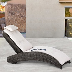 Domus Ventures Isle of Skye Massage Sunlounger Chaise Lounge - Simply owning a chaise lounge doesn't turn your backyard into a private resort, but throw in a personal masseuse and now we're talking: enter Domus Ventures Isle of Skye Massage Sunlounger Chaise Lounge. Whether you're on your feet all day or stuck behind a desk, chances are you've felt your share of back pain. Even when trying to be fit and healthy by exercising, it's easy to cause muscle soreness that can make life difficult. That's why it's so important to find time for personal rejuvenation through rest and relaxation. This incredible chaise lounge has a built in Shiatsu-style massager. And because it's built into the frame and not the cushion, this massage unit guarantees effective placement and high specs for absolute comfort. The remote control for the massager attaches right to the chaise so that it won't be lost; and since it's waterproof, it, like the chaise itself, can stay outside in all weather. This remote also controls the pitch of the multipositional backrest so that you can find your perfect angle of recline simply by pushing a button. And to avoid making a sore back worse, this chaise comes equipped with two rear wheels that make moving it altogether simple. The Bark-colored wicker contrasts the Ivory cushions for a striking effect that recalls those luxury resorts, among which you can now count your own backyard.Made from hand-woven synthetic wicker, this lounger is constructed for outdoor use in any climate. This unique fiber is not just outstandingly weatherproof, safeguarding against fading, cracking, splitting, and molding - it is also dirt resistant, making it easy to clean and maintenance free. The high-density polyethylene composition is also environmentally friendly and 100 percent recyclable. Lastly, the high quality of care that goes into this superior construction means that this piece will last for years to come, which is good for the environment and good for your wallet.About Domus Venutures Pte. Ltd.Established in 1997, Domus Ventures is a German-owned manufacturer that has grown into a dominant global player in the furniture industry. Exporting over 1,600 containers annually, each design and each piece is subjected to the highest level of scrutiny, ensuring the company's commitment to excellence. Often using materials such as teak, natural wicker, loom, paper fiber, and resin wicker, Domus Ventures is always exploring and testing new materials to find beautiful and sustainable high-quality designs while striving to produce unique modern and contemporary furniture that creates the perfect setting for your home and lifestyle, whatever your taste, budget, or needs might be. Despite their growth into a company that employs over 2,200 factory and office staff in China, Indonesia, Singapore, Germany, and the United States, Domus Ventures prides itself not just on its products but also on its ethical production, which includes decent worker benefits and compensation as well as ecofriendly green initiatives.