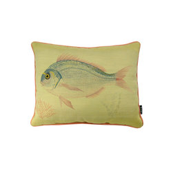 Lava - Sea Sunfish 19 x 15 Pillow (Indoor/Outdoor) - 100% polyester cover and fill. Made in USA. Spot clean only. Safe for use indoors or out.