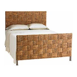 Seagrass Block Queen Headboard & Footboard - This beautiful seagrass woven bed brings beautiful coastal texture to your bedroom.