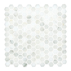 Lansdale Carrara Mosaic - Gorgeous Carrara hex mosaic, great for a classic feeling bathroom floor.