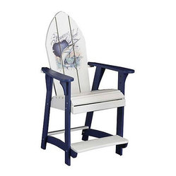 Panama Jack Sailfish Balcony Chair with Blue Finish