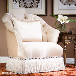 Marge Carson - Skirted Chair - Additional fabric options available.