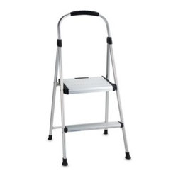 Cosco - Cosco Signature Two-Step Aluminum Step Stool - A durable, yet lightweight two-step aluminum step stool from Cosco is an ideal addition to any home. It is secure and stable giving you just enough height for those household chores that always seem just out of reach.
