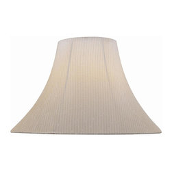 Lite Source - 7 in. Light Beige Bell Shade - Shade top: 7 in. Dia.. Shade bottom: 18 in. Dia.. Shade height: 12.5 in.. Weight: 2.13 lbs.