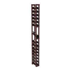 1 Column Display Row Cellar Kit in Pine with Walnut Stain - Make your best vintage the focal point of your wine cellar. High-reveal display rows create a more intimate setting for avid collectors' wine cellars. Our wine cellar kits are constructed to industry-leading standards. You'll be satisfied. We guarantee it.
