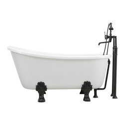 The Tub Studio - Gritti CoreAcryl White Acrylic Swedish Slipper Claw-Foot Tub Package - Product Details