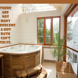 Hot Bath Can't Solve Vinyl Wall Decal bathroomquotes26, Pink, 18 in. - Vinyl Wall Quotes are an awesome way to bring a room to life!