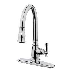 Estora - Estora Varismo Pull Down Faucet, Chrome - Estora Single Handle Pull-Down Kitchen Faucet from the Varismo Collection