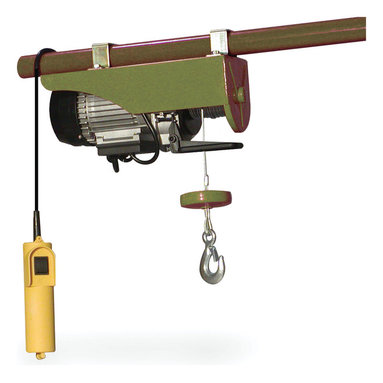 Buffalo Tools - Buffalo Outdoor 440 Lb Electric Hoist - Lift small engines, transmissions, large shop tools, or building supplies, up to 38 feet in the air in just over a minute. Perfect for use