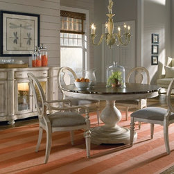 ART Furniture - Belmar Light Round Dining Room Set - ART-179225-ROOM - Set Includes Dining Table and 4 Splat Back Side Chairs