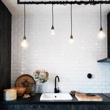 Eclectic Kitchen Island Lighting Poppytalk: An Industrial Inspired Kitchen
