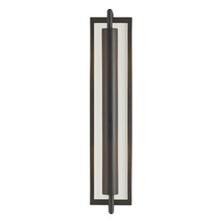 Murray Feiss - Murray Feiss Mila Transitional Wall Sconce X-BRO2541BW - A blend of clean lines and an elongated shape gives a unique but stylish look to this Murray Feiss wall sconce. From the Mila Collection, the warm tones of the Oil Rubbed Bronze finish soften the hard lines and angles of the base. Meanwhile, a frosted amber glass back plate completes the look. Can be installed horizontally or vertically.