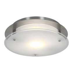 Access Lighting - Access Lighting 50037LED-BS/FST Flush-Mount - Access Lighting 50037LED-BS/FST Vision Round Flush-Mount