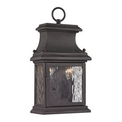 Elk Lighting - EL-47050/2 Forged Provincial 2-Light Outdoor Sconce in Charcoal - Forged Provincial Collection 2 light outdoor sconce in charcoal