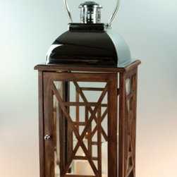 "Origin Crafts - Oversized marco lantern 30"" - Oversized Marco Lantern 30"" Dimensions (in):H 30"" W 13"" By Euroline LTD. - Euroline LTD. is a leading wholesaler of unique glass and metal decor. Estimated Delivery Time 1-2 Weeks Please be aware that some products are handmade and unique therefore there may be slight variations in each individual"