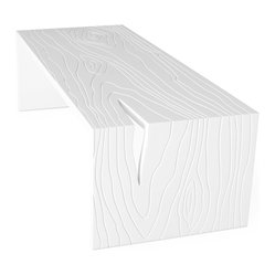 Gus Modern - Gus Modern Stump Coffee Table - Get your groove on. Start with a startlingly simple coffee table in cool white lacquer. Then add the artistry of exaggerated faux-bois textures. A little edgy? Yes. But all in good fun.