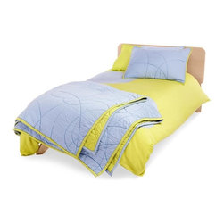 TrueModern Scribble Twin Quilt Set - This Scribble Quilt by TrueModern stands alone or can be combined with one of the playful duvet sets for extra warmth at night.