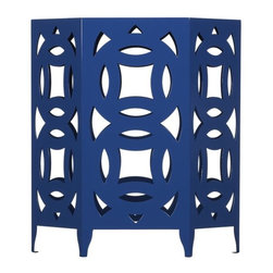 Ginger Blue Side Table - Love the design and also the color. This is a pretty and not predictable side table.