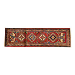 Super Kazak Oriental Rug Runner 3' x 9' Hand Knotted 100% Wool Geometric SH16536 - This collections consists of well known classical southwestern designs like Kazaks, Serapis, Herizs, Mamluks, Kilims, and Bokaras. These tribal motifs are very popular down in the South and especially out west.