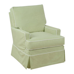 Chelsea Home Furniture - Chelsea Home Camila Accent Chair in Topsider Celadon with Tahoe White Welt - Our beautiful slip cover collection is specially crafted with you in mind. We offer a variety of styles with a slipcover over a muslin frame. Our unique slipcover system allows you to change your cover whenever you want. Whether it be a little dirty, a new season, or you are just bored with your current look, we have you covered.