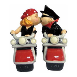 WL - 4.5 Inch Kitchenware Biker Couple Romantic Salt and Pepper Shakers - This gorgeous 4.5 Inch Kitchenware Biker Couple Romantic Salt and Pepper Shakers has the finest details and highest quality you will find anywhere! 4.5 Inch Kitchenware Biker Couple Romantic Salt and Pepper Shakers is truly remarkable.