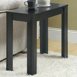 Monarch - Black Oak Accent Side Table - Add a modern appeal to your space with this black oak side table. Its solid and tapered legs are designed with subtle details that accentuate this piece. Place a lamp, picture frame, plant or any decorative accent on this functional side table. In a rich black oak finish, it will be an eye catcher in any room.