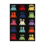 Nu Loom - Kids Kinderloom 5'x7' Rectangle Black Area Rug - The Kinderloom area rug Collection offers an affordable assortment of Kids stylings. Kinderloom features a blend of natural Black color. Hand Tufted of 100% Wool the Kinderloom Collection is an intriguing compliment to any decor.