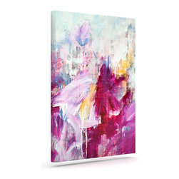 "Kess InHouse - Iris Lehnhardt ""Magenta"" Pink Paint Wrapped Art Canvas (20"" x 16"") - Bring your outdoor patio to life with this artistic outdoor canvas wrap featuring gorgeous artwork by KESS InHouse. These canvases are not only easy to hang and remove but also are the perfect addition to your patio collection. These canvases are stretched around a wooden frame and are built to withstand the elements and still look artistically fabulous. Decorating your patio and walls with these prints will add the splash of art and color that is needed to bring your patio collection together! With so many size options and artwork to choose from, there is no way to go wrong with these KESS Canvas Wraps!"