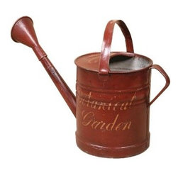 Vintage Tin Watering Can - Vintage tin watering can with hand-painted text from a later date
