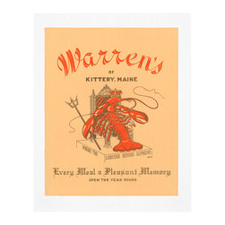 Cool Culinaria - Warren's of Kittery 1950s Vintage Menu Art Print, 11x14 - Cool Culinaria Giclee Prints on 130lb Sunset Velvet Archival Art Paper. Printed in New York.
