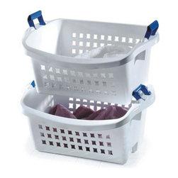 Rubbermaid - Rubbermaid Stack'n Sort Basket (6-Pack) (292800-WHT) - Rubbermaid 292800-WHT Stack's Sort Basket