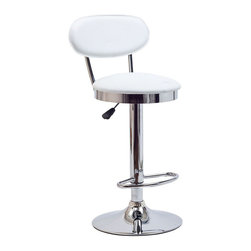Modway - Retro Bar Stool in White - Ahead of its time, the Retro Bar Stool of the 1950s is a timeless piece of intrigue for all generations. Known for its simple vision and drive for advancement, this work is a classic brimming with buoyancy and rich experiences. Extraordinary qualities abound from a time when things were a lot more simple and direct.