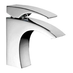 ALFI brand - ALFI brand AB1586 Single Lever Modern Bathroom Faucet Polished Chrome - Elegance made simple.  Rounded edges with a contemporary flare make this faucet the perfect addition to your new bathroom