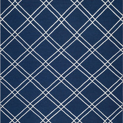 Safavieh - Dhurries Navy and Ivory Rectangular: 5 Ft. x 8 Ft. Rug - - This distinctive piece is both stylish and incredibly soft to the touch with bold rich colors that complement any room. Flat-woven by hand in India  - Pile Height: 0.25  - Construction: Flatweave  - Shedding is a normal occurrence and will reduce over time with frequent vacuuming. It is also recommended that you vacuum regularly to prevent dust and crumbs from settling into the roots of the fibers. AVOID DIRECT AND CONTINUOUS EXPOSURE TO SUNLIGHT. USE RUG PROTECTORS UNDER THE LEGS OF HEAVY FURNITURE TO AVOID FLATTENING PILES. DO NOT PULL LOOSE ENDS, CLIP THEM WITH SCISSORS TO REMOVE. TURN CARPET OCCASIONALLY TO EQUALIZE WEAR. REMOVE SPILLS IMMEDIATELY ; IF LIQUID, BLOT WITH CLEAN, UNDYED CLOTH BY PRESSING FIRMLY AROUND THE SPILL TO ABSORB AS MUCH AS POSSIBLE. FOR HARD TO REMOVE STAINS, PROFESSIONAL RUG CLEANING IS RECOMMENDED. STORE IN A DRY, WELL-VENTILATED AREA. USE OF A RUG PAD IS RECOMMENDED. Safavieh - DHU638D-5
