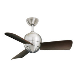Emerson Electric CF130 30in. Tilo Ceiling Fan - This gorgeous ceiling fan is contemporary yet has a bit of retro industrial age style; it looks like it was inspired by a Margaret Bourke White photograph.