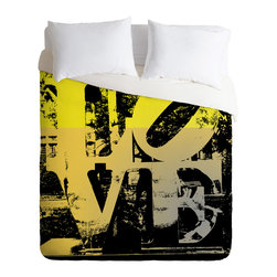 DENY Designs - Amy Smith Philadelphia Love Duvet Cover - Turn your basic, boring down comforter into the super stylish focal point of your bedroom. Our Luxe Duvet is made from a heavy-weight luxurious woven polyester with a 50% cotton/50% polyester cream bottom. It also includes a hidden zipper with interior corner ties to secure your comforter. it's comfy, fade-resistant, and custom printed for each and every customer.