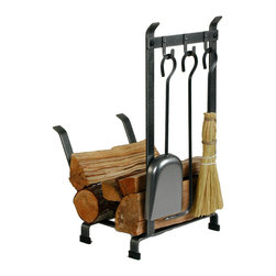 Enclume - Enclume LR11t HS Log Rack w/ Tools (CH) - LR11T HS COUNTRY HOME LOG RACK WITH TOOLS Designed for our customers who have wood stoves or smaller hearth areas, this Country Home Collection piece takes up less space on the floor or hearth. Yet, all have unmistakable Enclume qualititie and the racks hold plenty of wood for an evening's fire. Superior Hot rolled steel construction of this original design along with Enclume's signature.