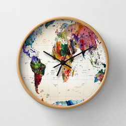 World Wide Wall Clock - This is the ultimate map of the world. The clock will tick as you gaze out on all the adventurous places that are calling for you.